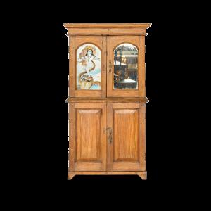 Armadio / Credenza alta con ante in legno di teak
