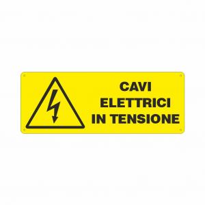 Cartello Pericolo cavi elettrici in tensione