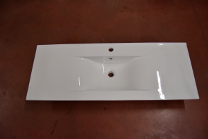 Lavabo In Ceramica Per Bagno Dimensioni 123 X 48 X 21 Cm NUOVO