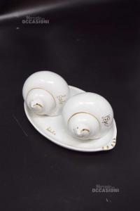 Sale E Pepe In Ceramica Pate De Limoges A Forma Di Conchiglia