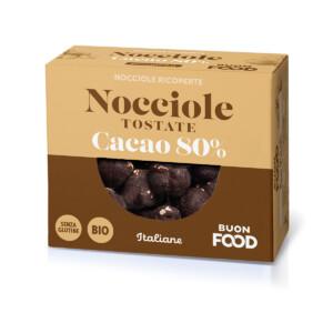 Nocciole Tostate e Cacao 80%