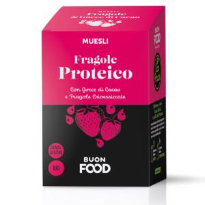 Muesli Proteico Fragole e gocce di Cioccolato