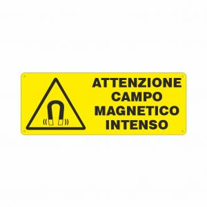Cartello Attenzione campo magnetico intenso