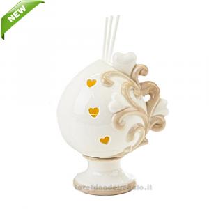 Profumatore Pomo in porcellana 9x7x12 cm - Bomboniera matrimonio