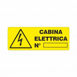 Cartello Cabina Elettrica numero