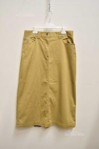 Skirt Woman Marlboro Classic Color Sand Long Size.46