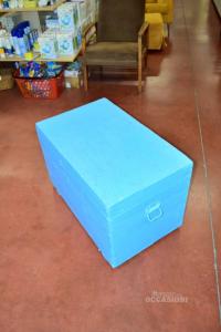 Baule Azzurro 78x48x52h In Legno