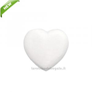 Gessetto Bianco a forma di cuore 2.6x2.6 cm - Decorazioni bomboniere