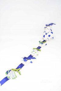 Formine In Ceramica Blu Fila Da 5 Pezzi Mucca