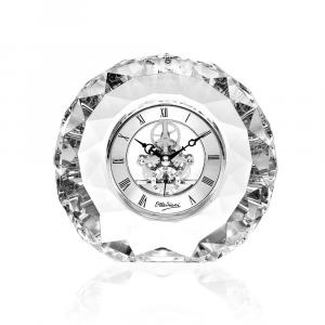 OTTAVIANI - Orologio in cristallo h. 15,5 cm