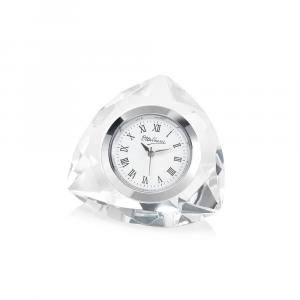 OTTAVIANI - Orologio in cristallo 5.8x5.8xh.3.6 cm