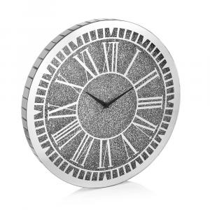 OTTAVIANI - Wall clock with silver glitter