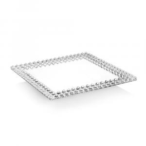 OTTAVIANI - Centrotavola girevole con cristalli cm.30x30