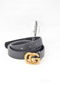 Cintura Donna Nera In Pelle Gucci Imitazione