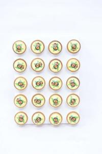 Set Pomoli Con Disegno Castagna 20 Pezzi