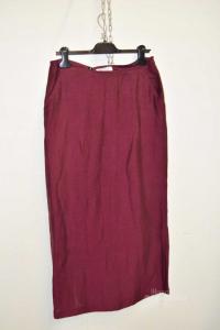 Skirt Woman Marella Size 48 Color Marc Mixed Linen