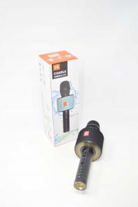 Microfono Per Fare I Simpatici Alle Feste Colore Nero NUOVO