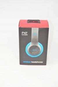 Cuffie Wireless Imitazione Bose P47 NUOVO Colore Blu Nero