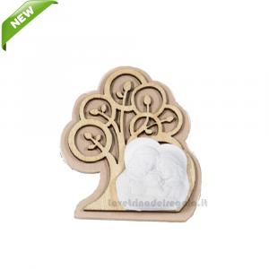 Magnete Albero della Vita con gessetto Sacra Famiglia 5.5 cm - Bomboniera battesimo e comunione