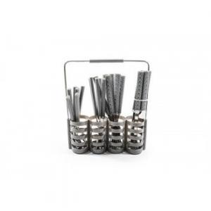 Set 24 Posate in Acciaio Con Porta Posate Colore Silver Ideale per La Cucina
