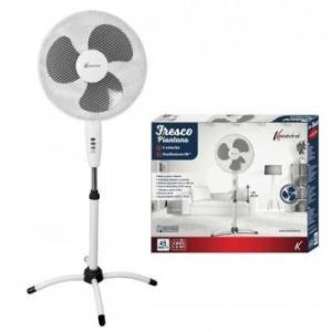 Ventilatore Fresco 40 cm Con Piantana Da Terra Colore Bianco 3 Velocità A Pale Oscillanti Regolabile Casa Estate Elettrodomestici