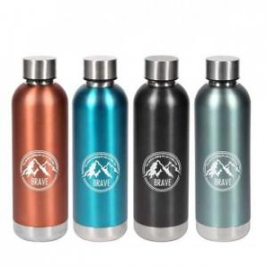 Bottiglia Termica Capacità Massima 500 Ml Colori Disponibili Metallizzati Rosso Azzurro Nero Cobalto Contenitore Per Bevande Da Viaggio Casa