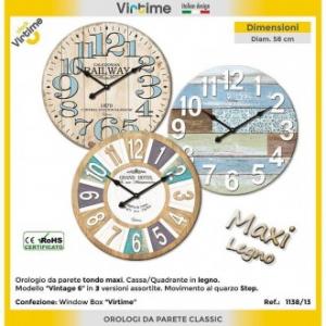 Orologio Da Parete In Legno Tondo Vari Temi e Colori Disponibile Arredare Casa 58 Dm