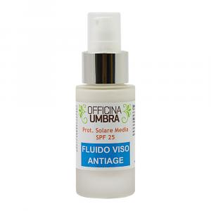 Fluido crema antiage con fattore di protezione solare
