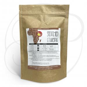 Caffè monorigine Etiopia Sidamo macinato, confezioni da 250 gr e 1kg