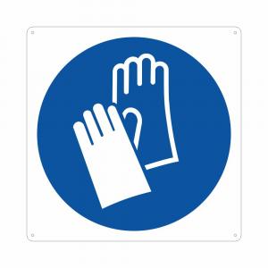 Cartello pittogramma obbligo uso guanti M009