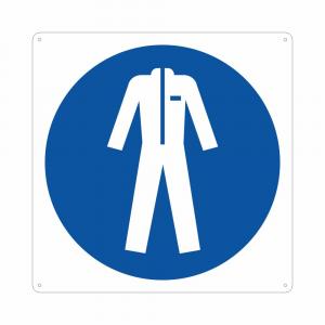 Cartello pittogramma obbligo uso indumenti protettivi M010