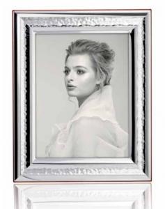 RANIERI - portafoto 13x18 Argento Laminato - retro legno