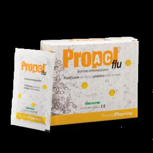 PropolAc\u00ae Flu effervescente - trattamento sintomatico di tutti gli stati irritativi della gola associati a tosse e secrezione di muco