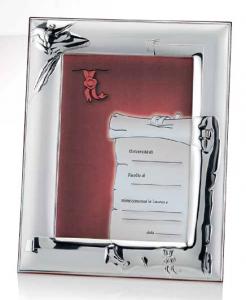 RANIERI - portafoto laurea 13x18 Argento Laminato - retro legno