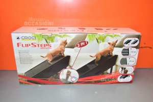 Croci Flip Steps Rampa For Dogs 2 In 1 50x43 Cm,dogs Up To 27 Kg