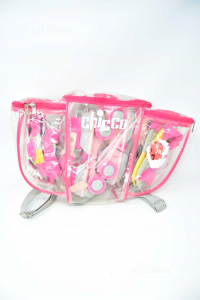 Skates Baby Girl Chicco Pink + Protections And Bag Backpack
