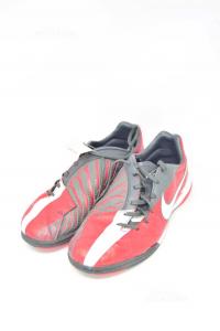 Scarpe Da Calcetto Uomo Nike T90 N 45.5 Rosso bianco Grigio