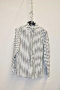 Camicia Ragazzo Fred Perry Righe Bianche Verdi Tg.10 Anni