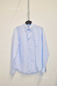 Camicia Ragazzo Jeckerson Righe Azzurro Bianco Tg.12 Anni