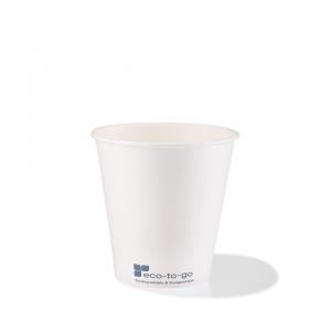 Bicchieri in cartoncino bio 120ml bianchi
