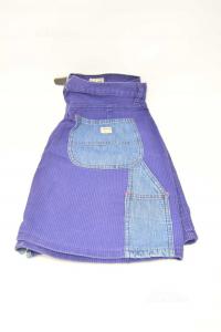 Gonna Donna Gas Vintage Viola Con Tasche Jeans Tg 32