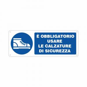 Cartello Obbligatorio usare le calzature di sicurezza