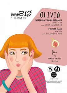 Puro Bio, OLIVIA Maschera Viso in Alginato Pelle Grassa - FICO