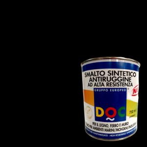 SMALTO SINTETICO NERO SATINATO PER INTERNO ED ESTERNO