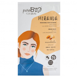 Puro Bio, MIRANDA Maschera Viso in Crema Pelle Grassa - MANDORLA