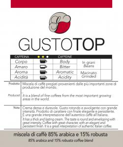 Miscela di Caffè in cialde GustoTop confezioni da n. 50 e 200 cialde in carta ese 44 mm