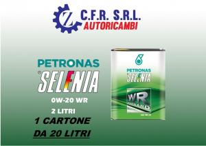 1 CARTONE (20 LITRI) OLIO LUBRIFICANTE SELENIA WR FORWARD 0W-20 DA 2 LITRI