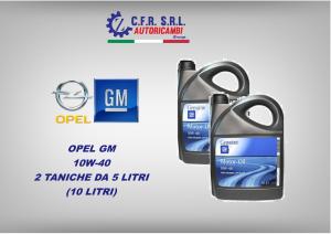 2PZ OLIO LUBRIFICANTE OPEL GM 10W-40 DA 5 LITRI