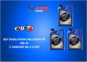 3PZ OLIO LUBRIFICANTE ELF EVOLUTION FULLTECH FE 5W-30 5 LITRI
