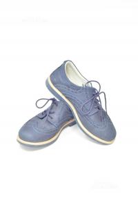 Scarpe Bambino Blu Num 35 Mk In Vera Pelle